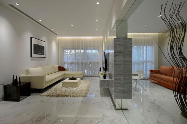 印度Ridgewood公寓室内客厅实景图-印度Ridgewood公寓第3张图片