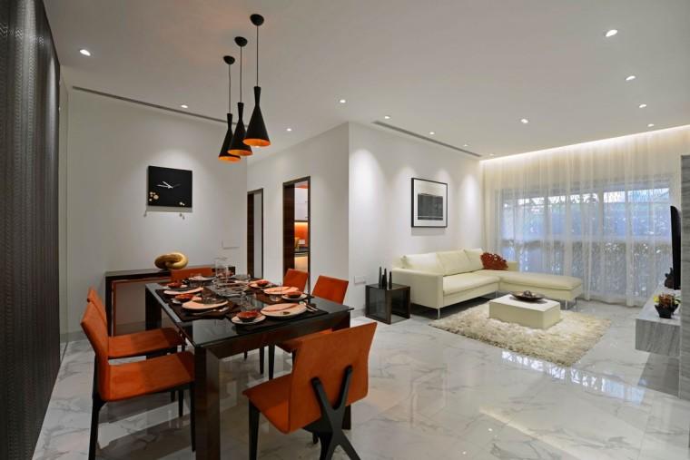 印度Ridgewood公寓室内客厅实景图-印度Ridgewood公寓第4张图片