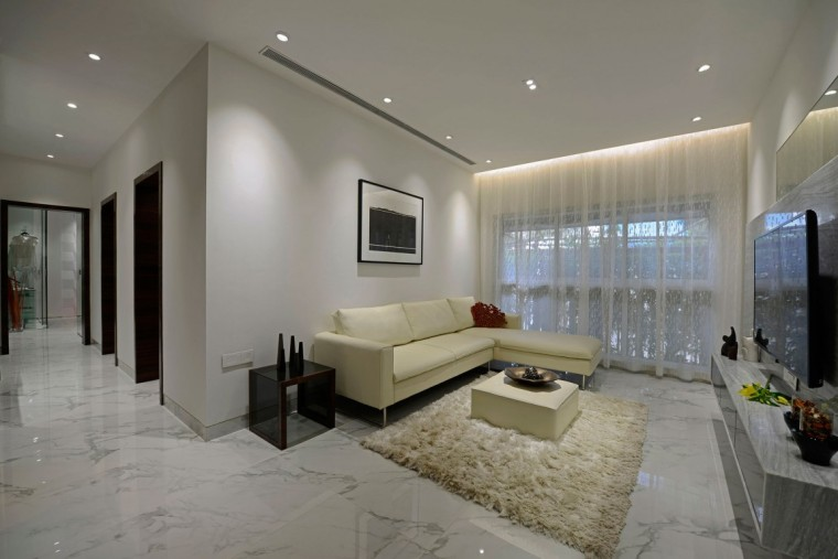 印度Ridgewood公寓室内客厅实景图-印度Ridgewood公寓第2张图片
