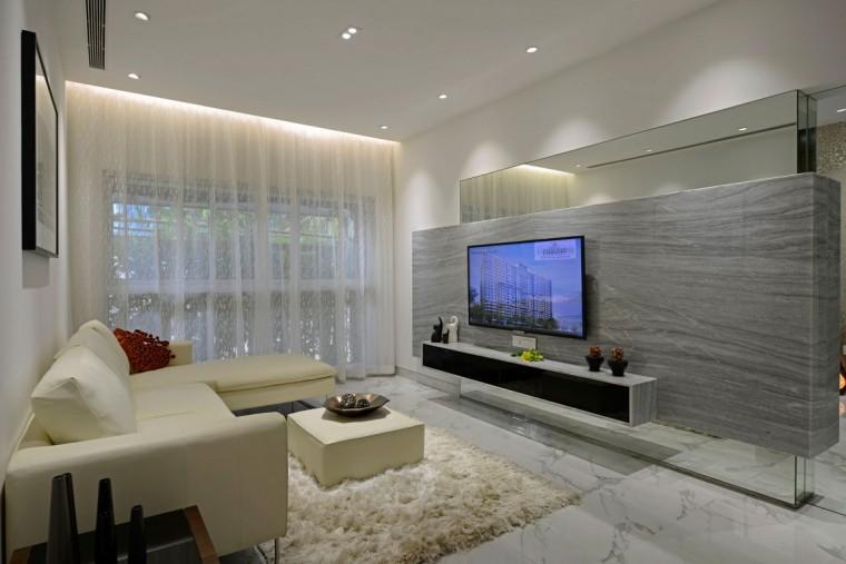 印度Ridgewood公寓室内客厅实景图-印度Ridgewood公寓第5张图片