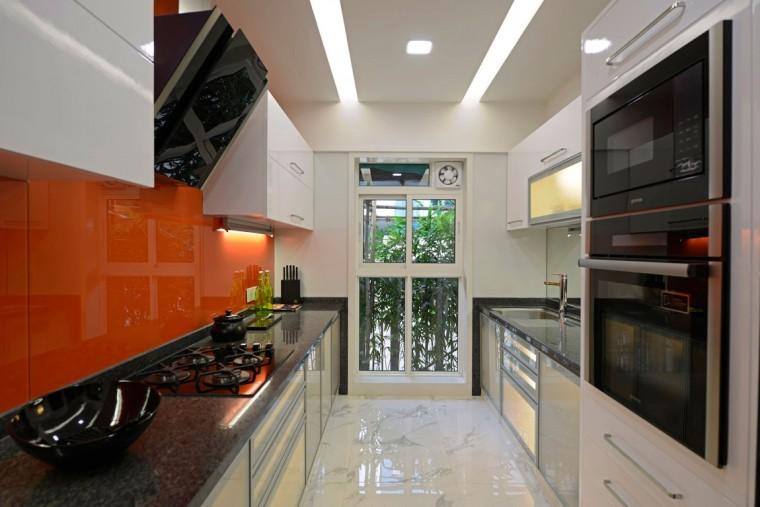 印度Ridgewood公寓室内厨房实景图-印度Ridgewood公寓第9张图片