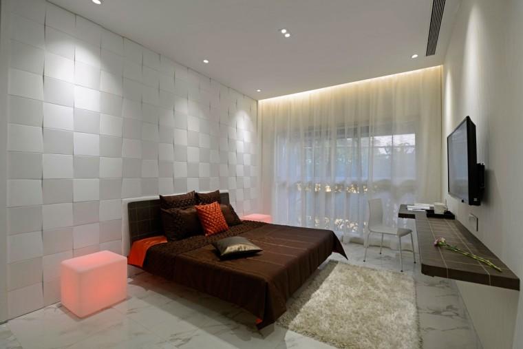 印度Ridgewood公寓室内卧室实景图-印度Ridgewood公寓第13张图片