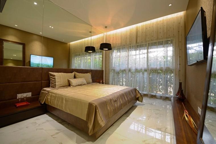 印度Ridgewood公寓室内卧室实景图-印度Ridgewood公寓第15张图片