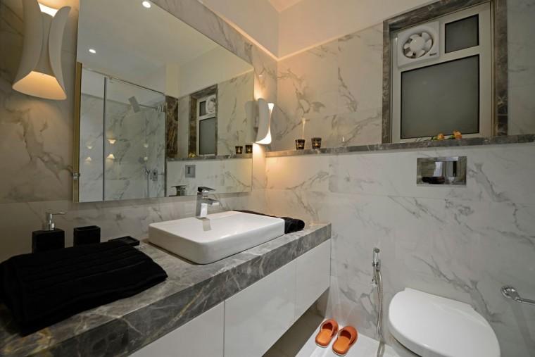 印度Ridgewood公寓室内浴室实景图-印度Ridgewood公寓第16张图片