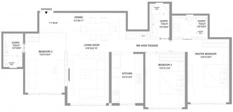 印度Ridgewood公寓平面图-印度Ridgewood公寓第19张图片
