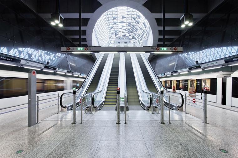 匈牙利M4地铁线Bikás公园站内部-匈牙利M4地铁线Bikás公园站第6张图片