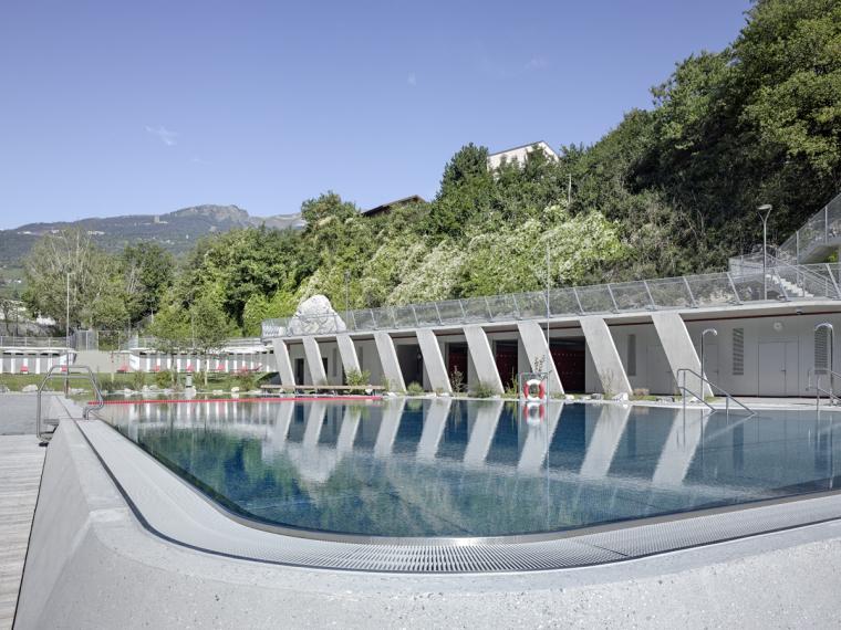 瑞士Géronde浴场翻新外部局部实-瑞士Géronde浴场翻新第13张图片
