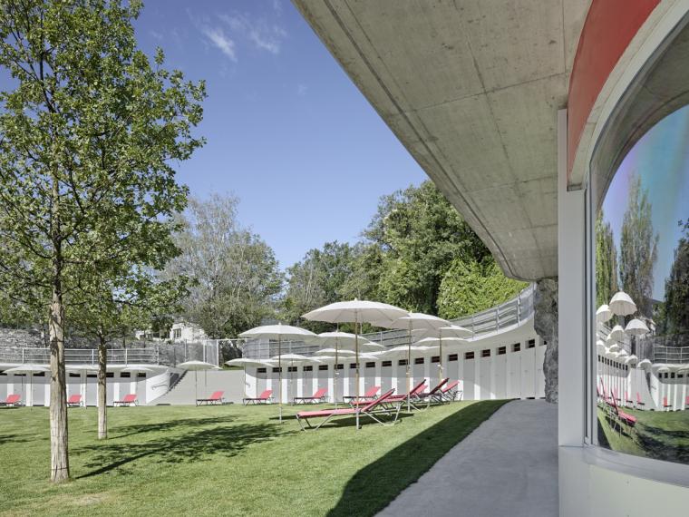 瑞士Géronde浴场翻新外部局部实-瑞士Géronde浴场翻新第6张图片