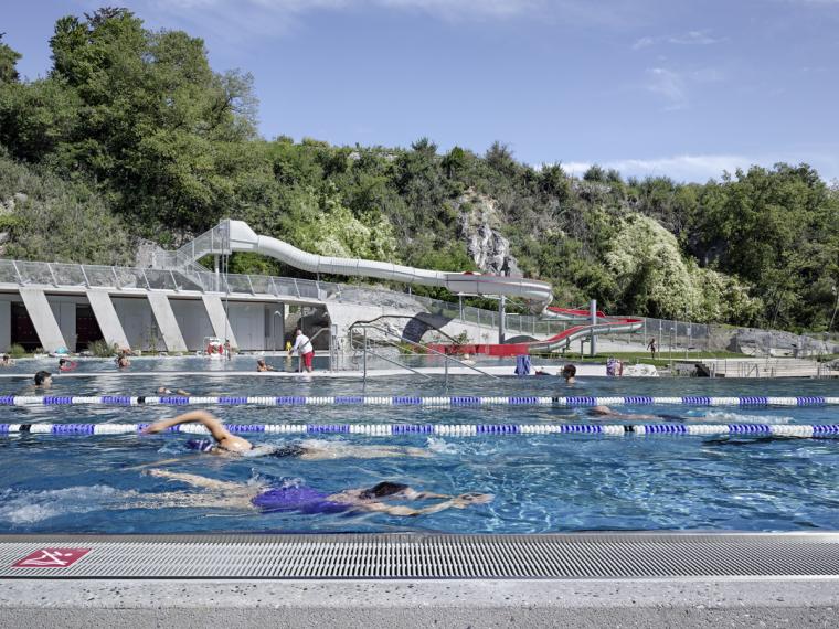 瑞士Géronde浴场翻新外部局部实-瑞士Géronde浴场翻新第12张图片