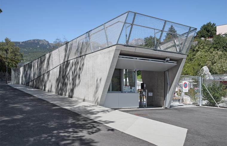 瑞士Géronde浴场翻新外部道路实-瑞士Géronde浴场翻新第10张图片