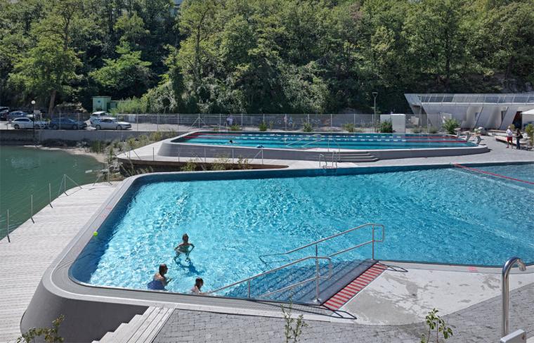 瑞士Géronde浴场翻新外部局部实-瑞士Géronde浴场翻新第14张图片