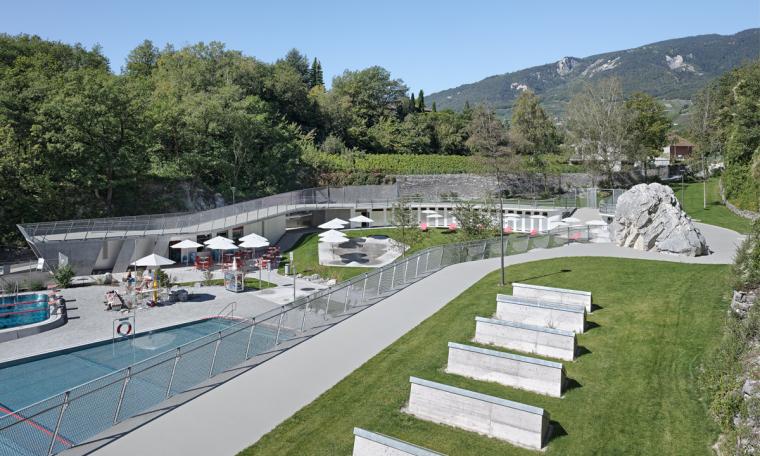 瑞士Géronde浴场翻新外部道路实-瑞士Géronde浴场翻新第8张图片