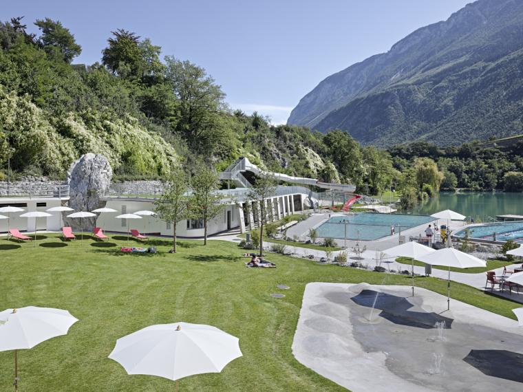 瑞士Géronde浴场翻新外部道路实-瑞士Géronde浴场翻新第9张图片
