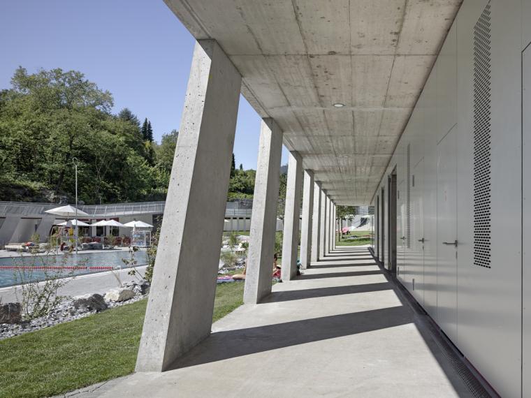 瑞士Géronde浴场翻新外部局部实-瑞士Géronde浴场翻新第5张图片