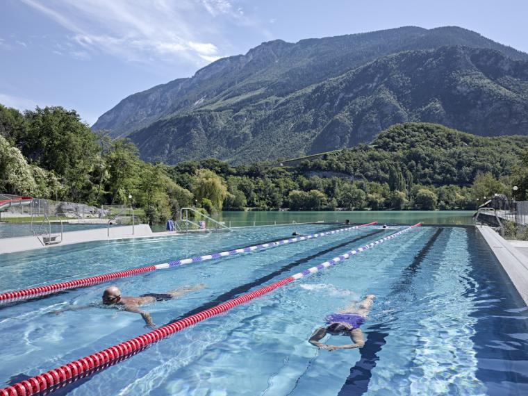 瑞士Géronde浴场翻新外部局部实-瑞士Géronde浴场翻新第11张图片