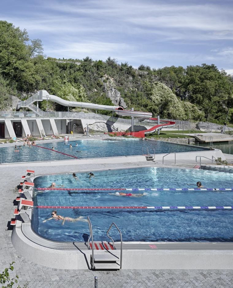 瑞士Géronde浴场翻新外部局部实-瑞士Géronde浴场翻新第15张图片