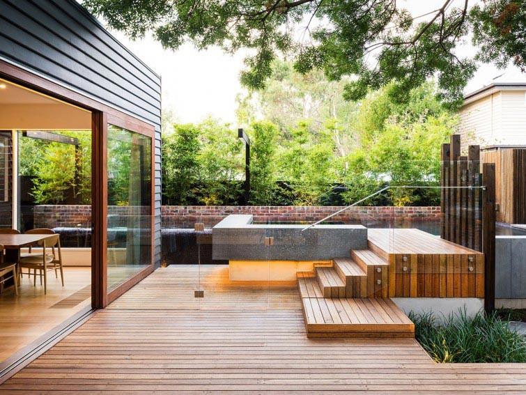 现代乡村感的庭院