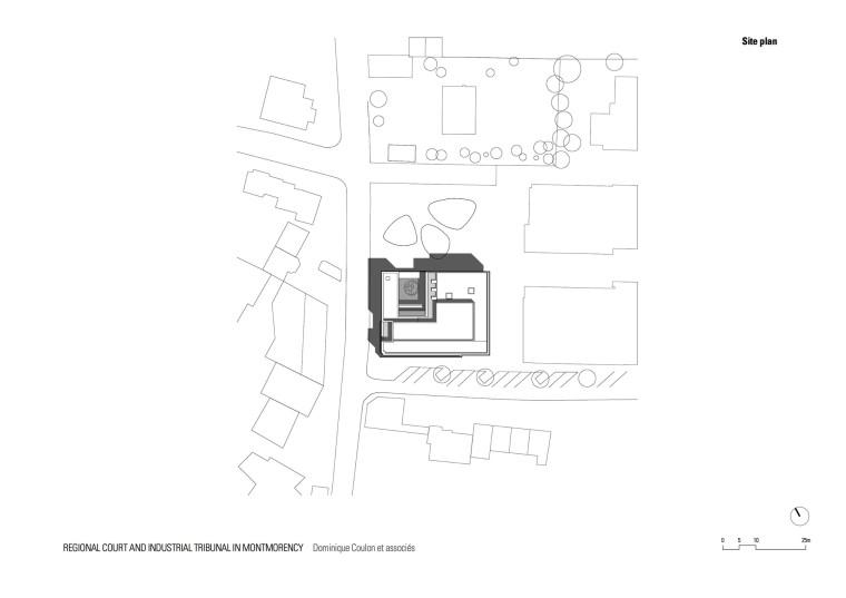 法国蒙特默伦西地区法院平面图-法国蒙特默伦西地区法院第23张图片