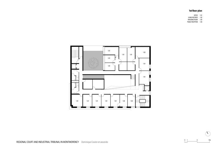 法国蒙特默伦西地区法院平面图-法国蒙特默伦西地区法院第25张图片