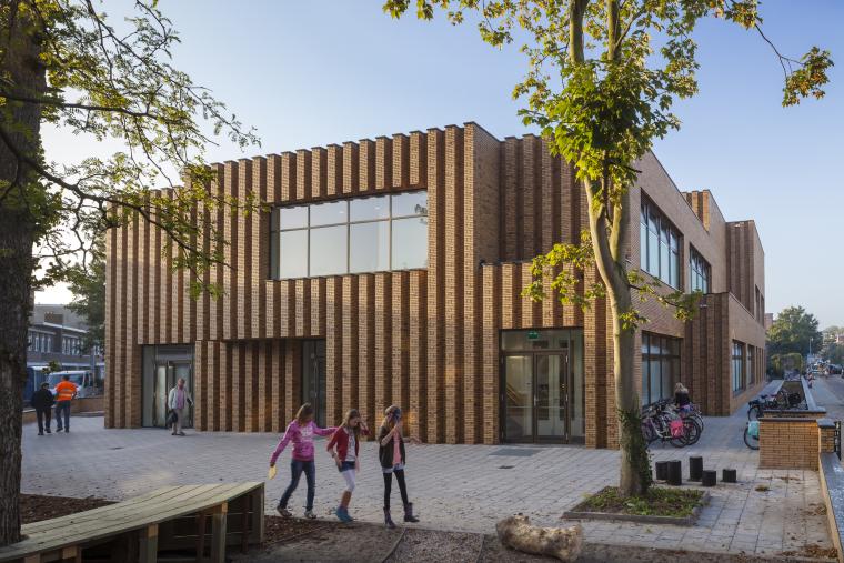 Waalsdrop学校新教学楼外部实景图-Waalsdrop学校新教学楼第2张图片