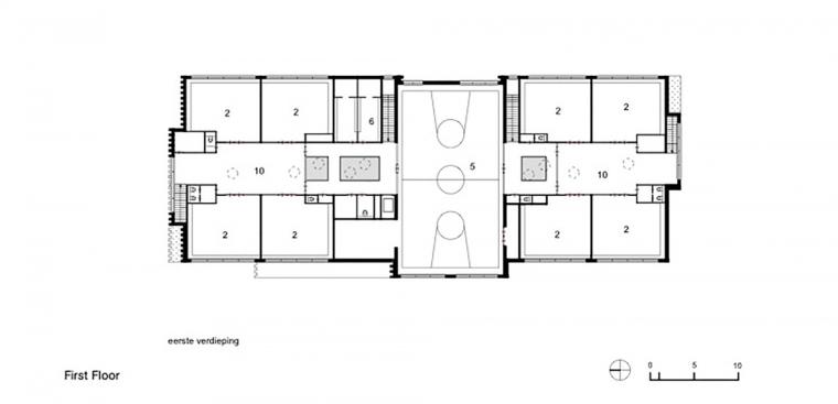 Waalsdrop学校新教学楼平面图-Waalsdrop学校新教学楼第12张图片