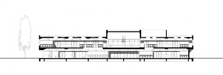 Waalsdrop学校新教学楼剖面图-Waalsdrop学校新教学楼第13张图片