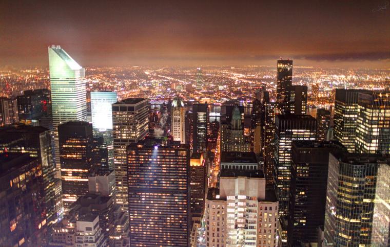 美国花旗中心外部夜景实景图-美国花旗中心第9张图片