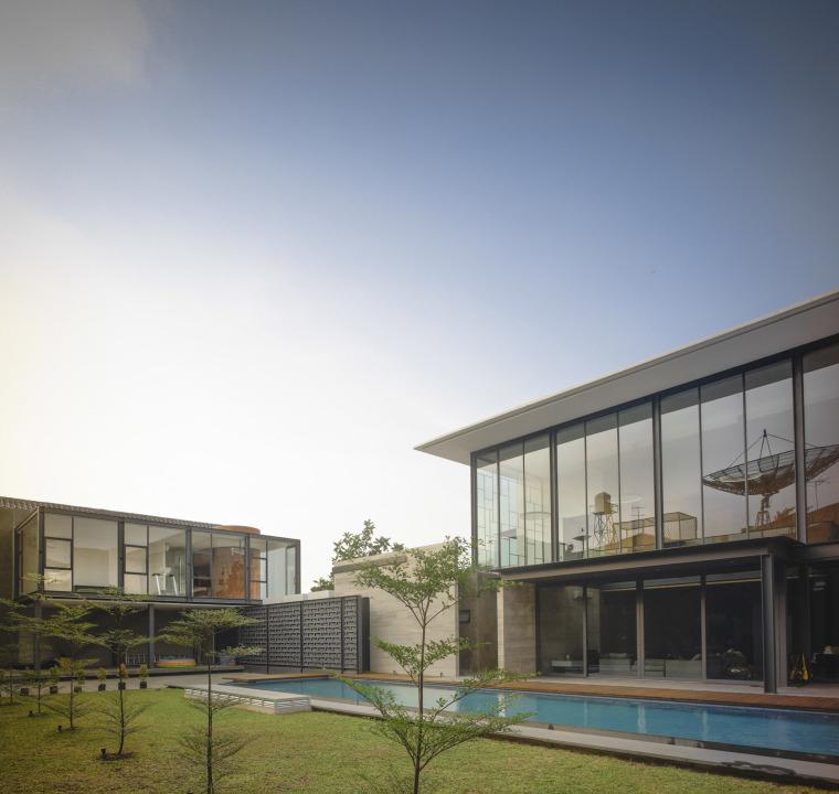 印尼RumahBidang住宅-印尼Rumah Bidang住宅外部局部实-印尼Rumah Bidang住宅第5张图片