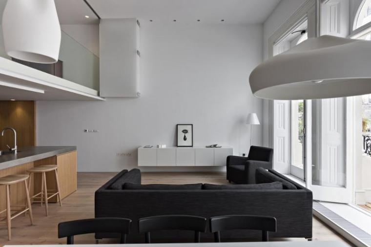 英国伦敦市中心公寓室内餐厅实景-英国伦敦市中心公寓第4张图片