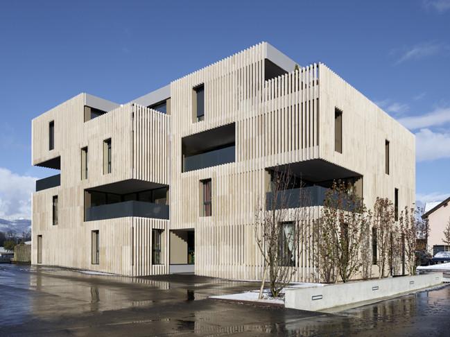 瑞士竖条公寓大楼