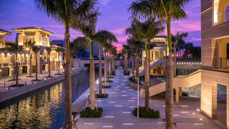 海南岛度假胜地项目外部夜景实景-海南岛度假胜地项目第9张图片