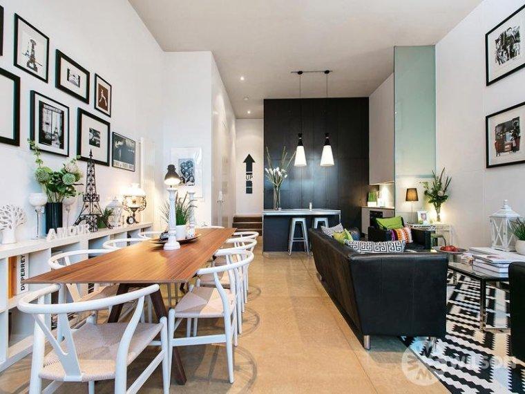 白色天花板公寓室内客厅实景图-白色天花板公寓第11张图片