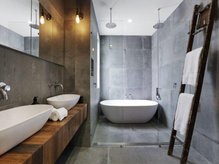 白色天花板公寓室内浴室实景图-白色天花板公寓第5张图片