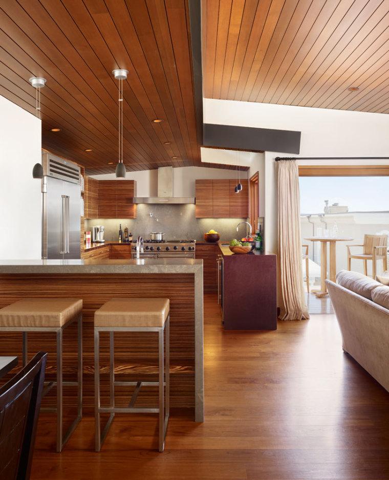 美国三十三街住宅内部厨房实景图-美国三十三街住宅第15张图片