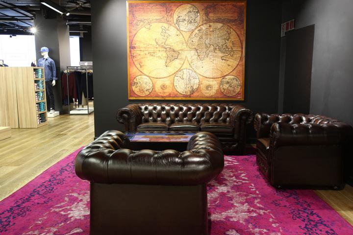 法国巴黎拉哈雷旗舰店室内休息区-法国巴黎拉哈雷旗舰店第9张图片