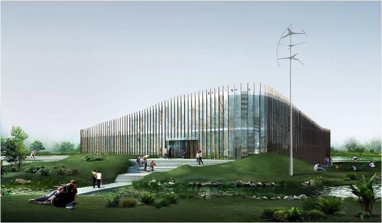 浙江国家湿地公园绿色大楼景观效-浙江国家湿地公园绿色大楼景观第14张图片