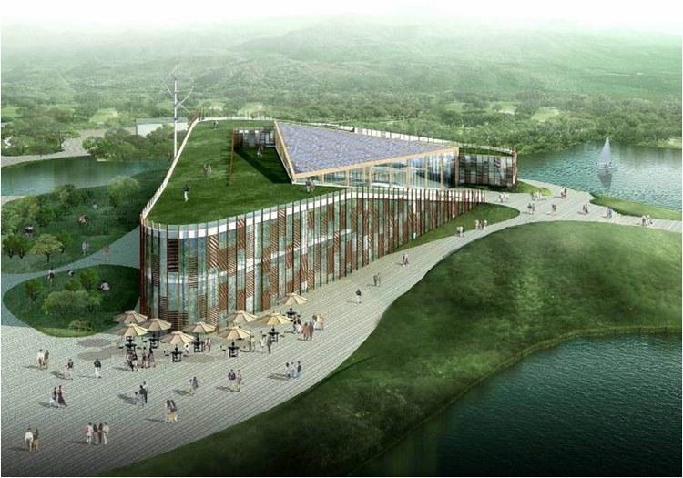 浙江国家湿地公园绿色大楼景观效-浙江国家湿地公园绿色大楼景观第16张图片