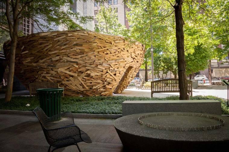 美国纽约木板鸟巢外部实景图-美国纽约木板鸟巢第2张图片