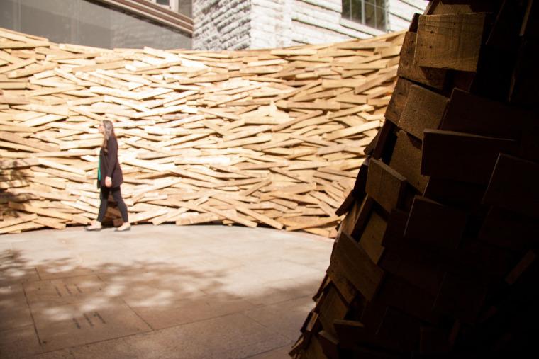 美国纽约木板鸟巢内部实景图-美国纽约木板鸟巢第6张图片