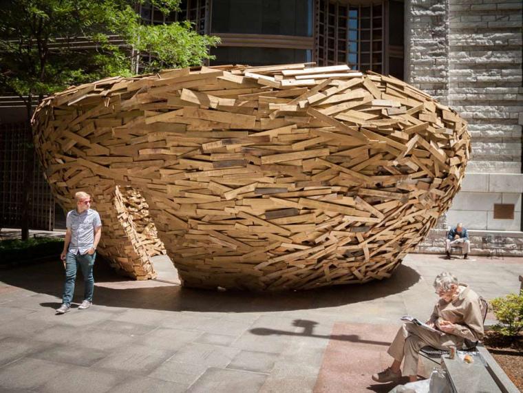 美国纽约木板鸟巢第1张图片