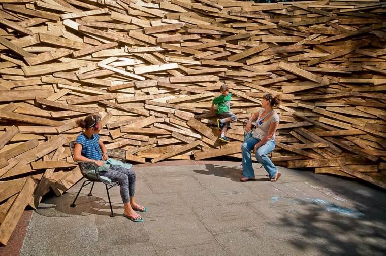 美国纽约木板鸟巢内部实景图-美国纽约木板鸟巢第5张图片