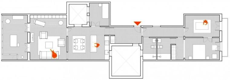 西班牙Eixample区公寓改造平面图-西班牙Eixample区公寓改造第15张图片