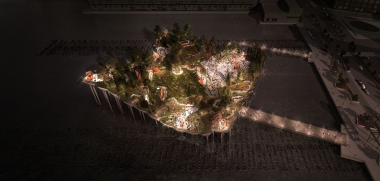 美国未来公园外部夜景效果图-美国未来公园第9张图片