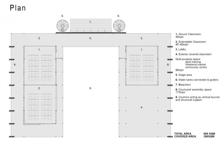马拉维社区中心及小学平面图-马拉维社区中心及小学第19张图片