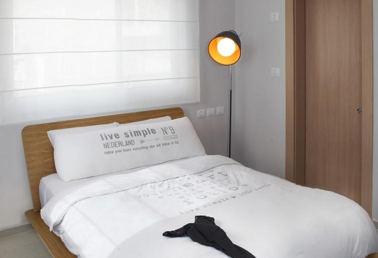 以色列一间极简的公寓室内卧室实-以色列一间极简的公寓第9张图片