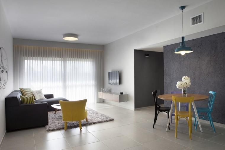 以色列一间极简的公寓室内客厅实-以色列一间极简的公寓第2张图片