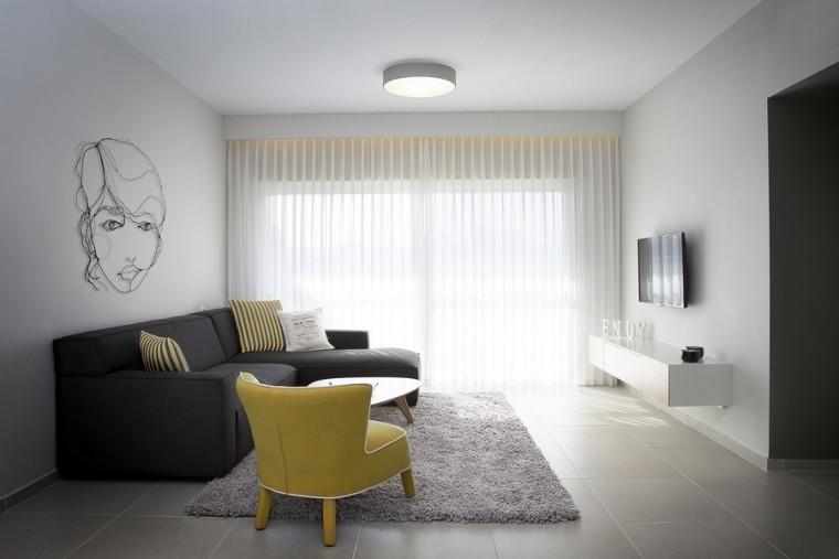 以色列一间极简的公寓室内客厅实-以色列一间极简的公寓第3张图片