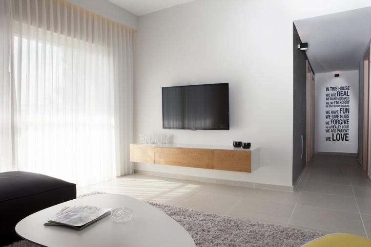 以色列一间极简的公寓室内客厅实-以色列一间极简的公寓第4张图片