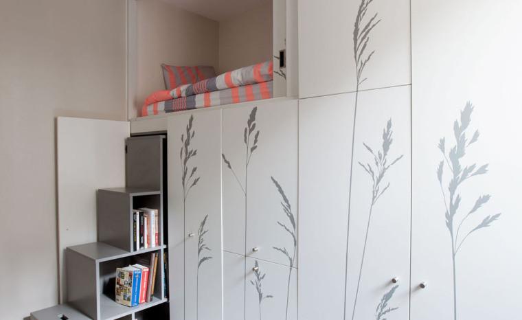 法国极限利用空间的公寓室内实景-法国极限利用空间的公寓第3张图片