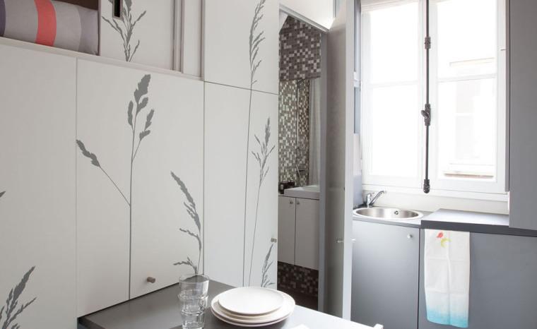 法国极限利用空间的公寓室内局部-法国极限利用空间的公寓第8张图片